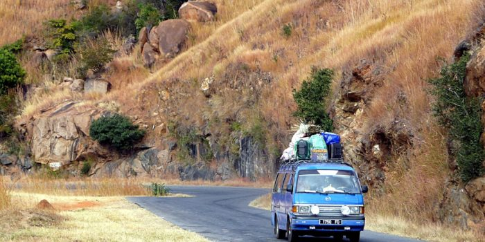 Taxi v Madagaskaru